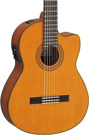 Yamaha cgx122mcc acústica eléctrica guitarra clásica con Solid tapa ...