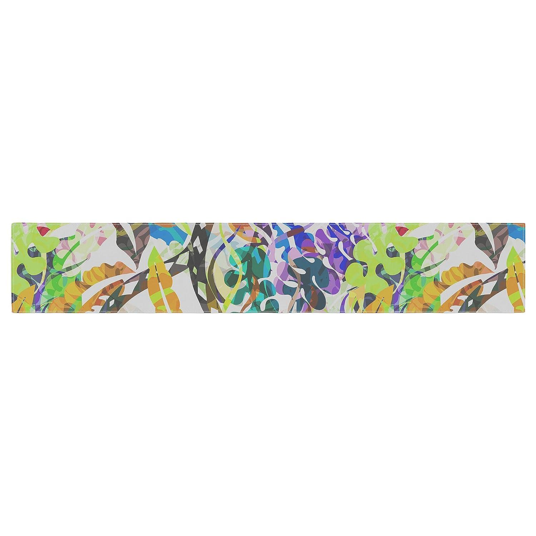 Kessインハウスgf1022atr01 Gabriela Fuente「フロー」レインボー花柄テーブルランナー   B01I4MYBSC