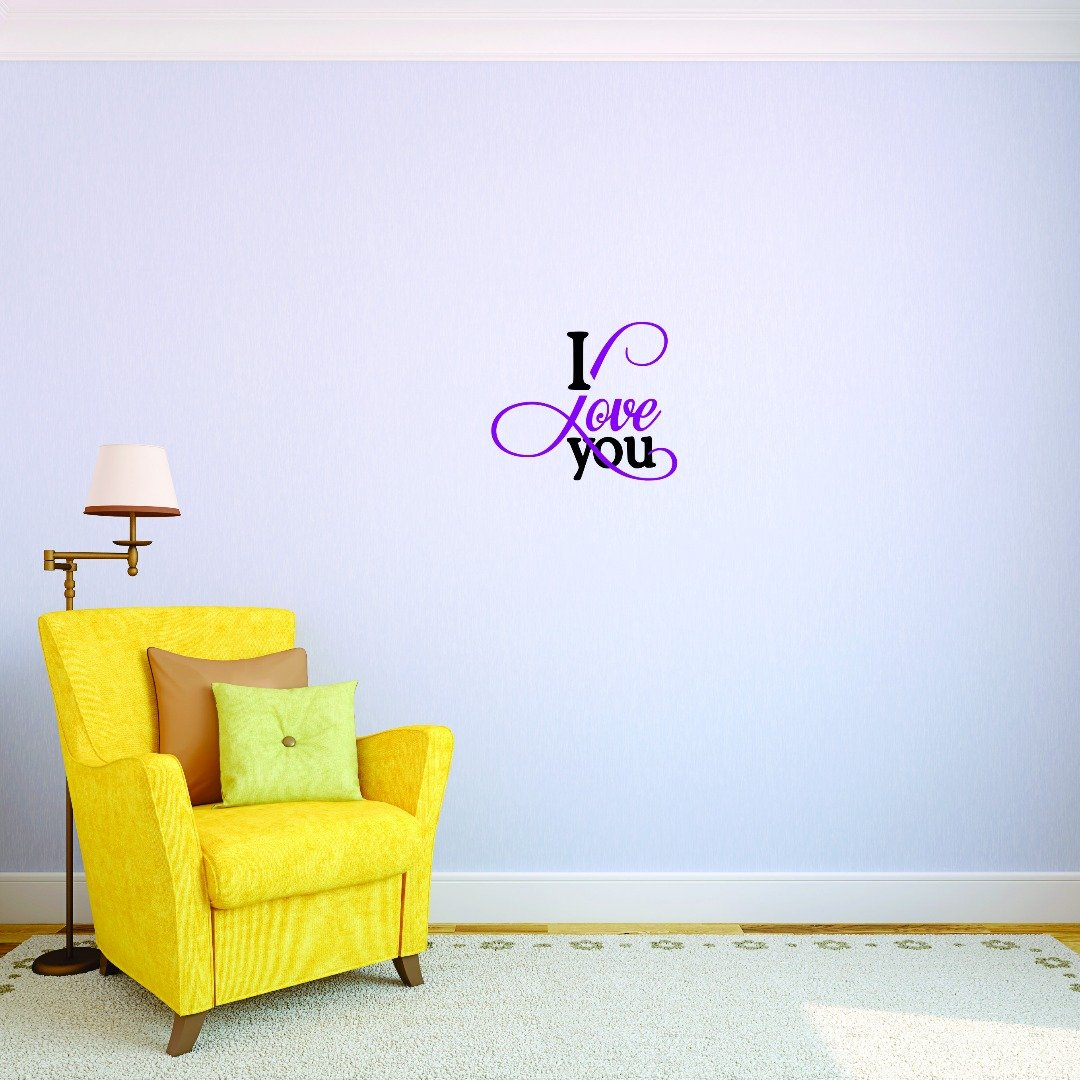 Design with Vinyl JER 1733 3 Hot New Decals I Love You Wall Art Size x 18 Inches Color Multi 18 x 18