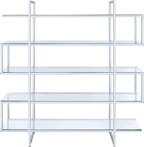 Coaster Home Furnishings Coaster Contemporary Silver Metal Bookcase