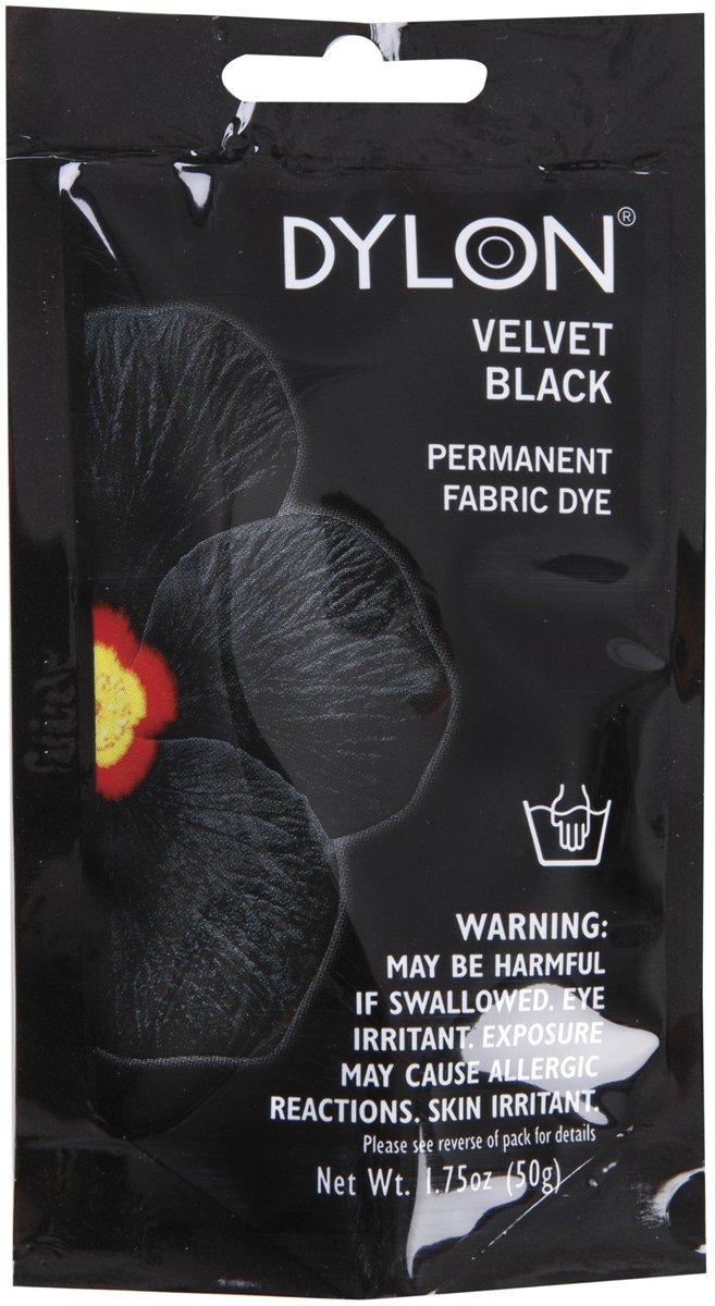 Dritz 87012 Permanent Fabric Dye, 1.75-Ounce, Velvet Black