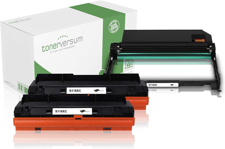2 Toner Trommel Kompatibel Zu Samsung Mlt D116l Mlt R116 Schwarz Spar Set Für Xpress M2835dw M2675fn M2825nd M2885fw M2875 M2625d Laserdrucker Bürobedarf Schreibwaren