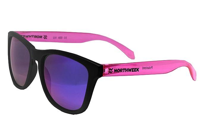 Gafas de sol Northweek matte black   bright pink   lente purple polarizada