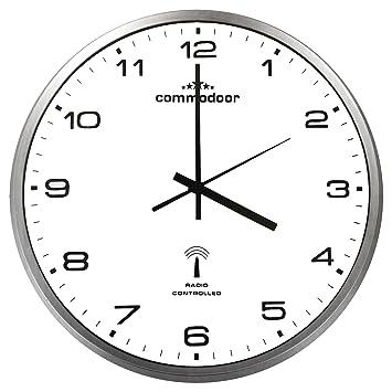 Funkuhr Wanduhr Funk Uhr DCF Analog Ø33cm Weiß Küchenuhr Quarzuhr Bürouhr