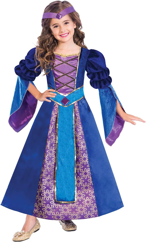 Ragazze viola Medievale Tudor Princess Costume