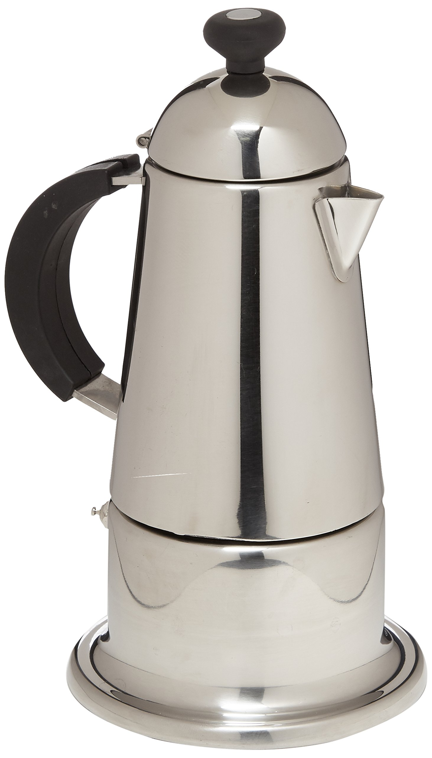 G.A.T. 129-6 6-Cup Carmen Stove Top Espresso Maker 6, Stainess Steel by GAT