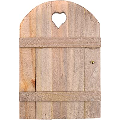 Touch of Nature Mini Fairy Garden Wooden Door, 6 by 4-Inch, Wood: Garden & Outdoor