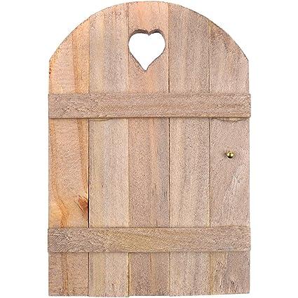 Touch of Nature Mini Fairy Garden Wooden Door, 6 by 4-Inch, Wood