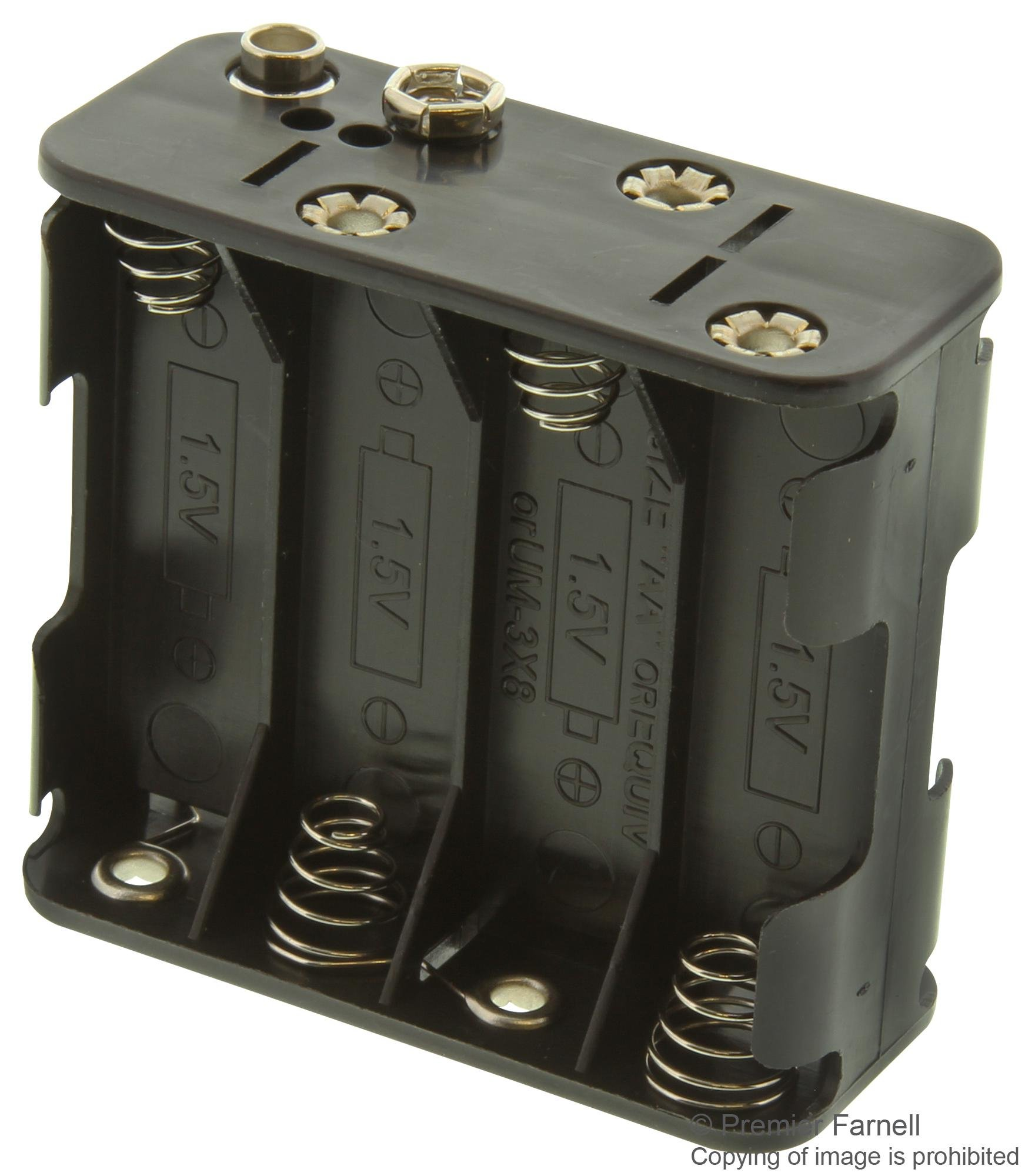 BH383B - Battery Holder, AA x 8, Snap On, (Pack of 5) (BH383B)