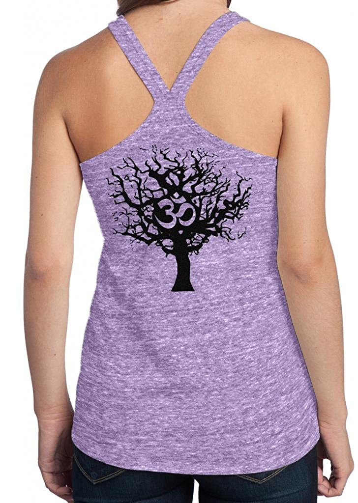 Yoga Clothing For You Ladies OM Tree Life T-Back Tank Top TREE-DT250-BACK
