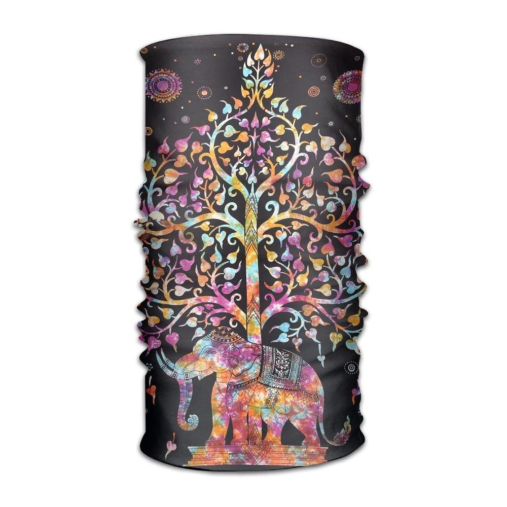 QWDAS Elephant Tree Fashionable Outdoor Hundred Change Headscarf Original Multifunctional Headwear