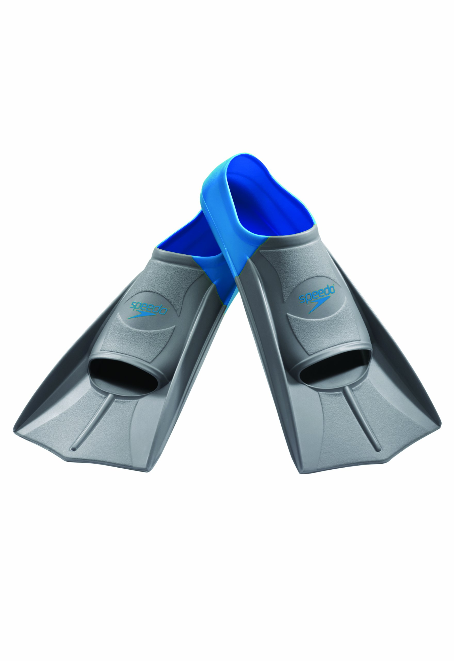 Speedo Short Blade Swim Training Fins, Blue, Medium by Speedo (Image #1)
