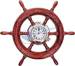 Nagina International Antique Shipwrecked Rusted Nautical Brass Ship's Porthole Wall Decor Mirror | Vintage Window | Maritime Ship's Vintage Decorative Mirror (36 Inches)