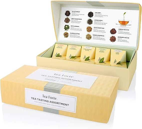Tea Forte Tea Tasting Assortment Petite Presentation Box Tea Sampler