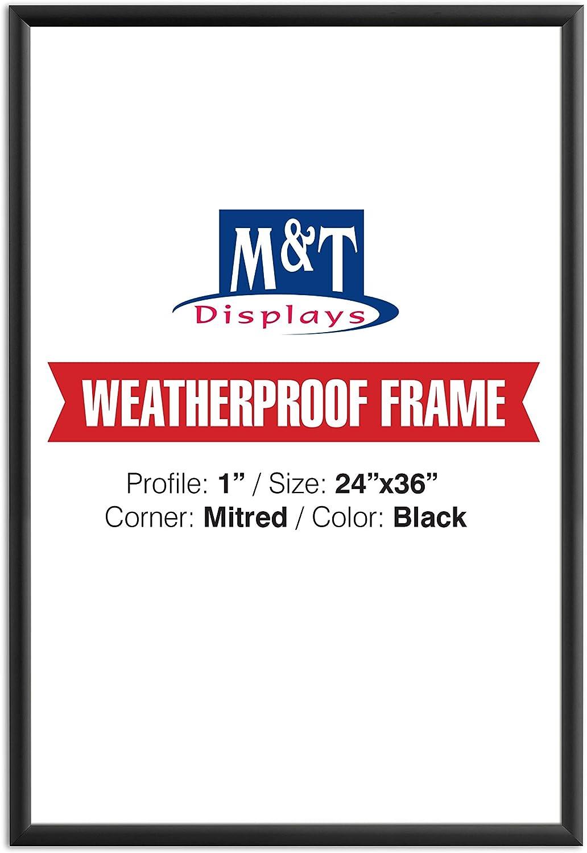 Amazon Com Weatherproof Frame 24x36 Poster Size 1 Black Color Profile Mitred Corner Posters Prints