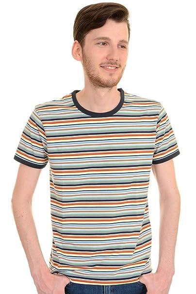 1960s – 70s Mens Shirts- Dress, Mod, Disco, Turtleneck Run & Fly Mens 60s 70s Retro Multi Striped Ringer T Shirt $22.95 AT vintagedancer.com