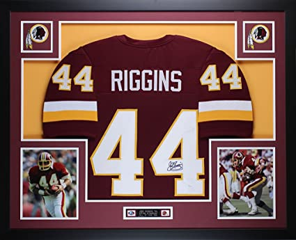 free shipping 2c565 b0f3a John Riggins Autographed Burgundy Redskins Jersey - Beautifully Matted and  Framed - Hand Signed By John Riggins and Certified Authentic by JSA COA -  ...