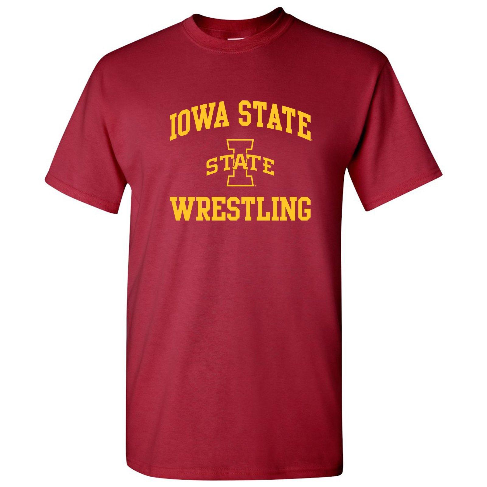 UGP Campus Apparel AS1104 - Iowa State Cyclones Arch Logo Wrestling T Shirt - Medium - Cardinal