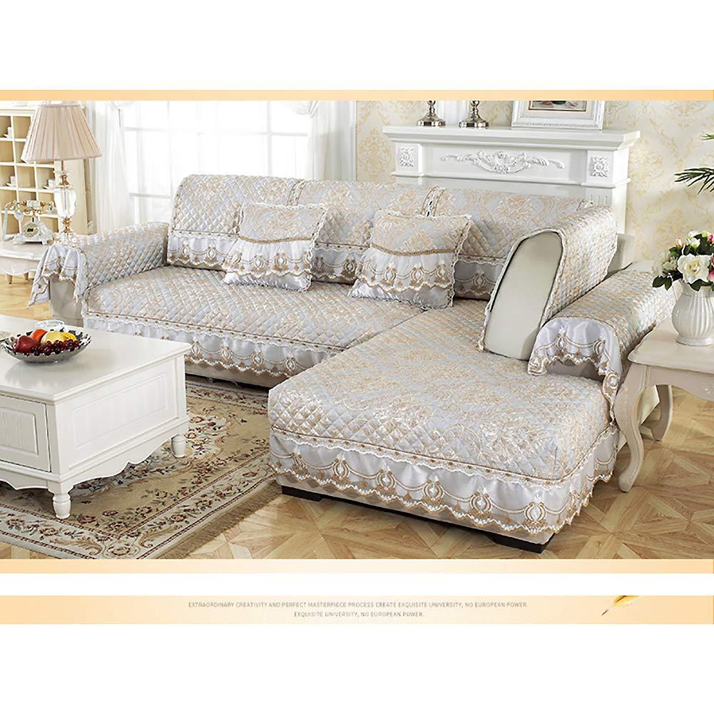 Amazon.com: SANDM Jacquard Anti-Slip Sofa Cover, European ...