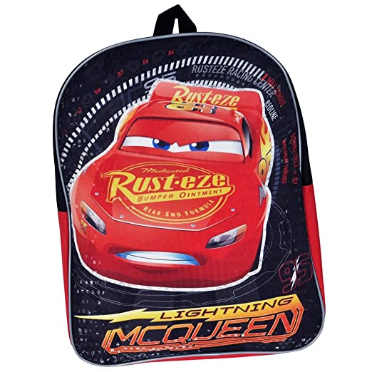 cc1a80b1362 Image Unavailable. Image not available for. Color  Disney Pixar Cars  Lightning McQueen 15-inch Kids Backpack ...