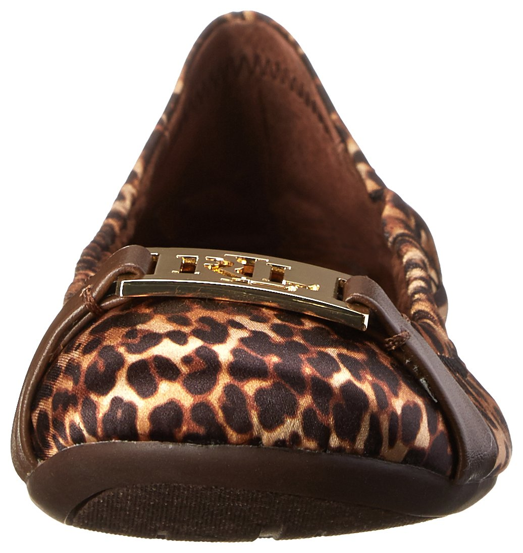 Lauren Ralph Lauren Women's Betty Ballet Flat B00MB1SPVC 6.5 B(M) US|Cheetah/Mid Brown Satin/Nappa