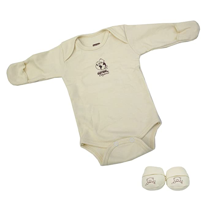 eb847972819b Amazon.com  Baby Mink 100% Organic Cotton 2 Piece Newborn Set  Long ...