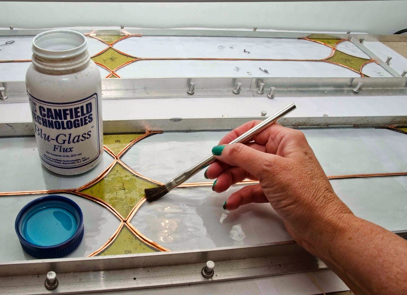 150pc ALAZCO 6'' Long 3/8'' Acid Brushes Natural Flexible Horsehair Bristles - Tin (Metal) Tubular Handles & Ferrules Home School Work Shop Garage by ALAZCO (Image #6)
