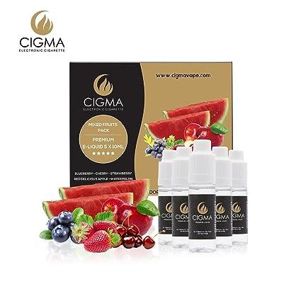 CIGMA 5 x 10 ml E líquidos Mezcla de frutas | manzana | Blueberry | cereza