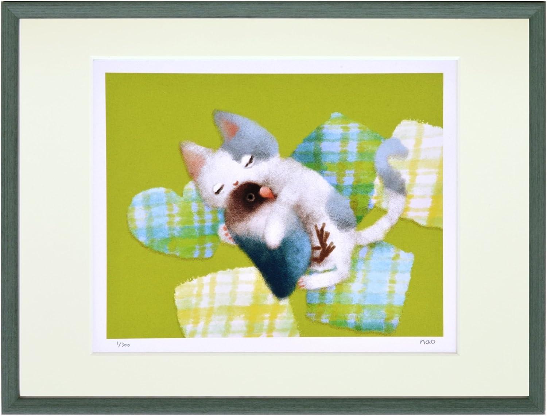 JIG アートフレーム 菜生(nao) 猫とぬいぐるみインコ ZNO-61081 B0747WZ83V