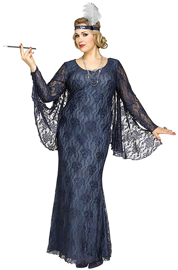 Vintage New Years Eve Dresses – Vintage Inspired Styles Fun World Roaring Beauty Plus Costume- Plus Sizes $104.94 AT vintagedancer.com