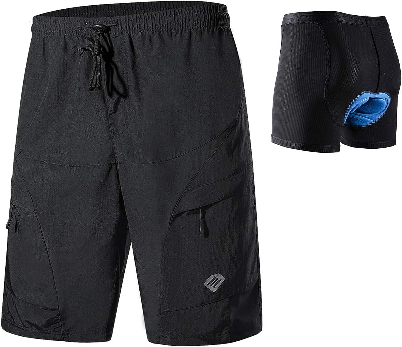 Santic Men's Loose-fit Mountain Bike Shorts Coolmax Lightweight Cycling MTB Shorts