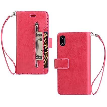 custodia in pelle per iphone x - (product)red