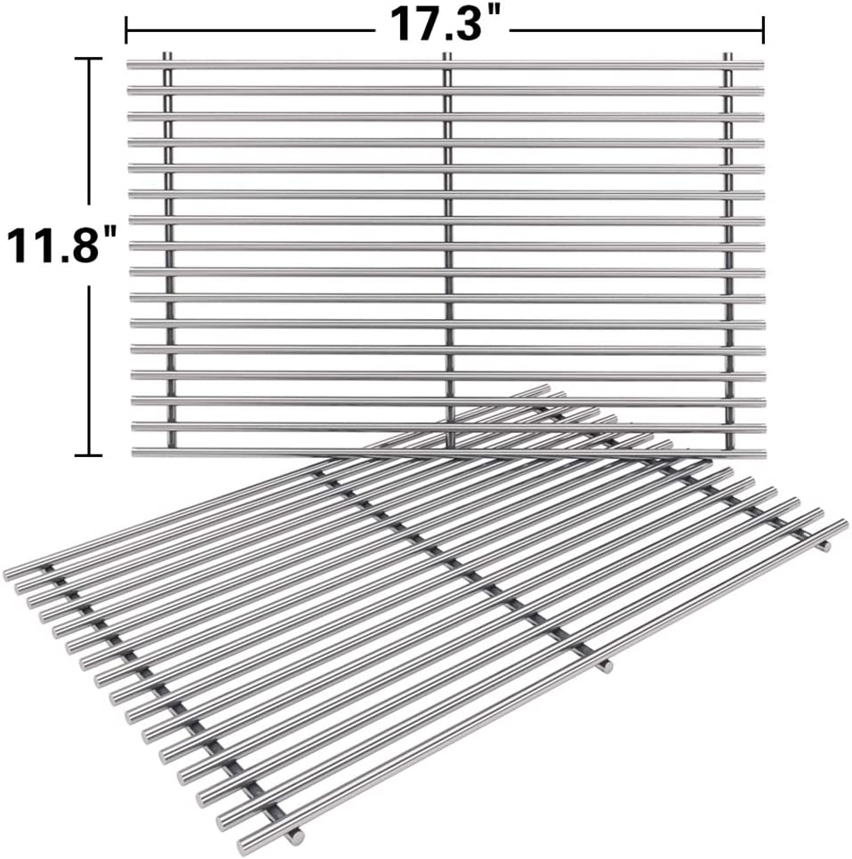 SHINESTAR 7639 Grill Grates for Weber Spirit 300 Series, Genesis Silver B C, Genesis Gold B C, Heavy Duty Stainless Steel (17.3 x 11.8)
