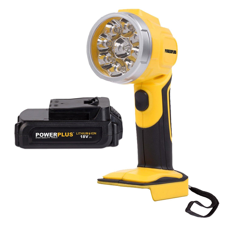 LED Arbeitsleuchte Schwenkkopf Lampe Leuchte One Fits All + Akku Lampenakku VARO