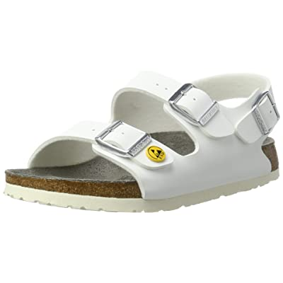 Birkenstock Milano ESD White Synthetic Sandals Narrow Width | Sandals
