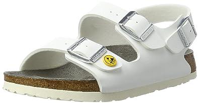 4c4b40e1c94 Birkenstock Unisex Adults  Milano Birko-Flor ESD Ankle Strap Sandals ...