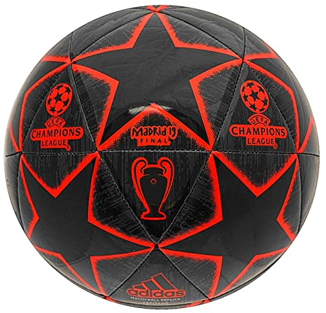 adidas Champions League 19 Balón de Fútbol, Hombre (Negro/Rojo ...