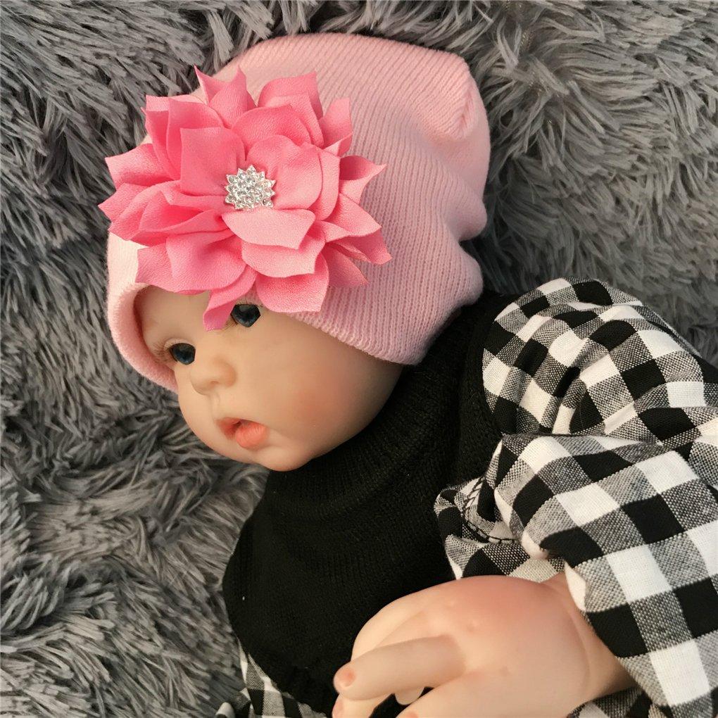 CHSEEA 6 Stück Baby Stirnbänder Elastische Haarband Turban Kleinkind Stirnband Haar Bogen Fliege Schleife Haarreifen Mädchen Head Wrap zur Kostüm Fotografie Props #1 Hüte, Mützen & Caps