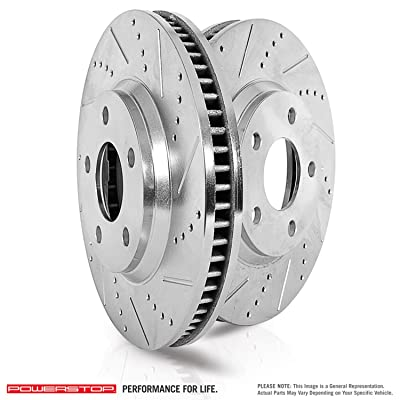 Power Stop AR8754XPR Front Evolution Drilled & Slotted Rotor Pair
