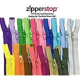 Zipperstop wholesale - 48pcs YKK#3 Nylon Coil Zippers Tailor Sewing Tools Garment Accessories Zipper16 Color Bonus 4 neon colors (Length 9 inch)