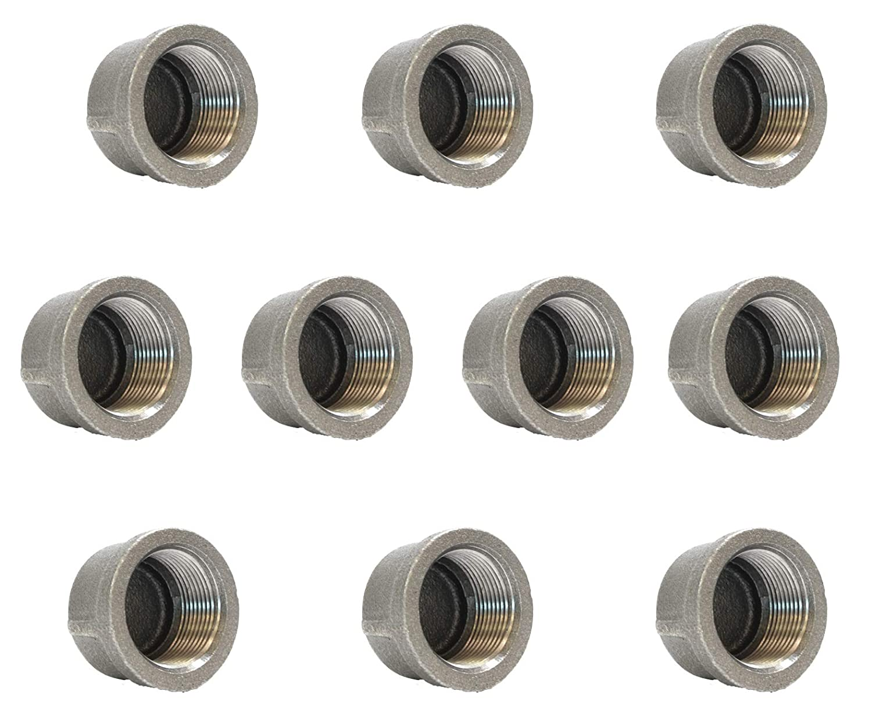 "BMCP0114 1-1//4/"" BLACK MALLEABLE IRON PIPE CAP FOR 150 LB W//FEMALE THREAD"