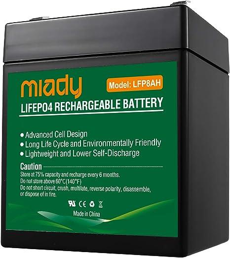Miady 12V 8Ah 2000 Cycles Sealed Battery