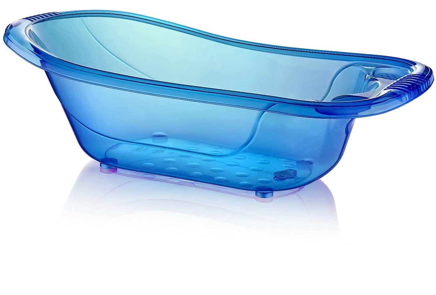 Large 50 Litre Aqua BLUE Clear / Transparent Baby Bath Tub: Amazon ...
