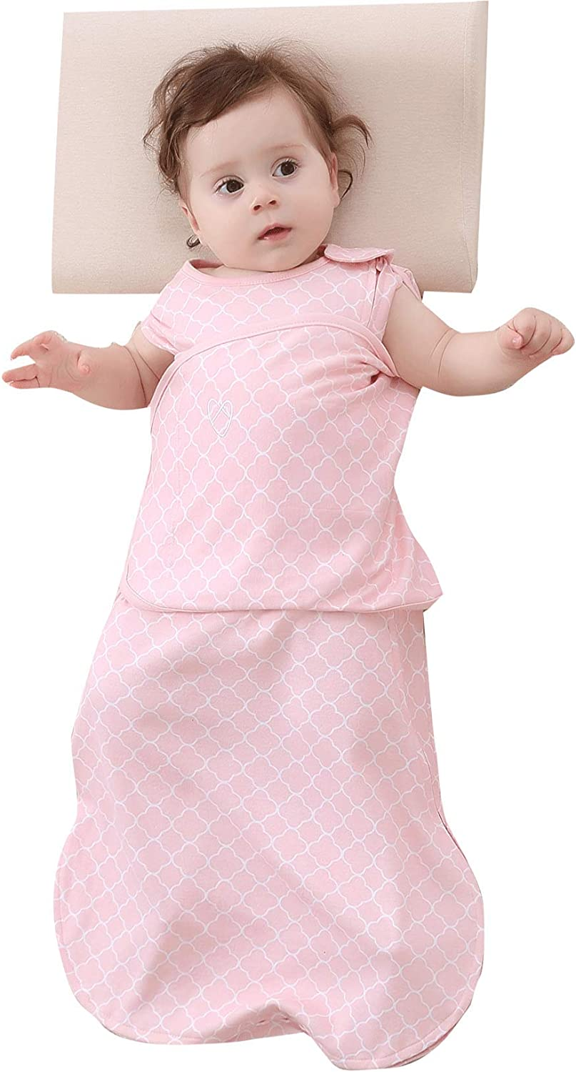 Baby Sleeping Bag Swaddle Sack Wearable Blanket,Cotton,6-12 Months Gray Stars