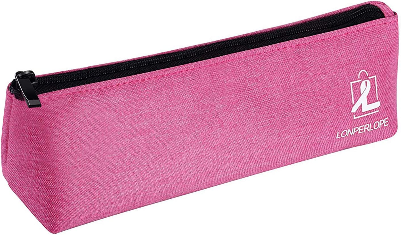 LonperLope - Estuche para lápices de gran capacidad con cremallera para bolígrafos, lápices, subrayadores, rotuladores y otros suministros escolares: Amazon.es: Oficina y papelería