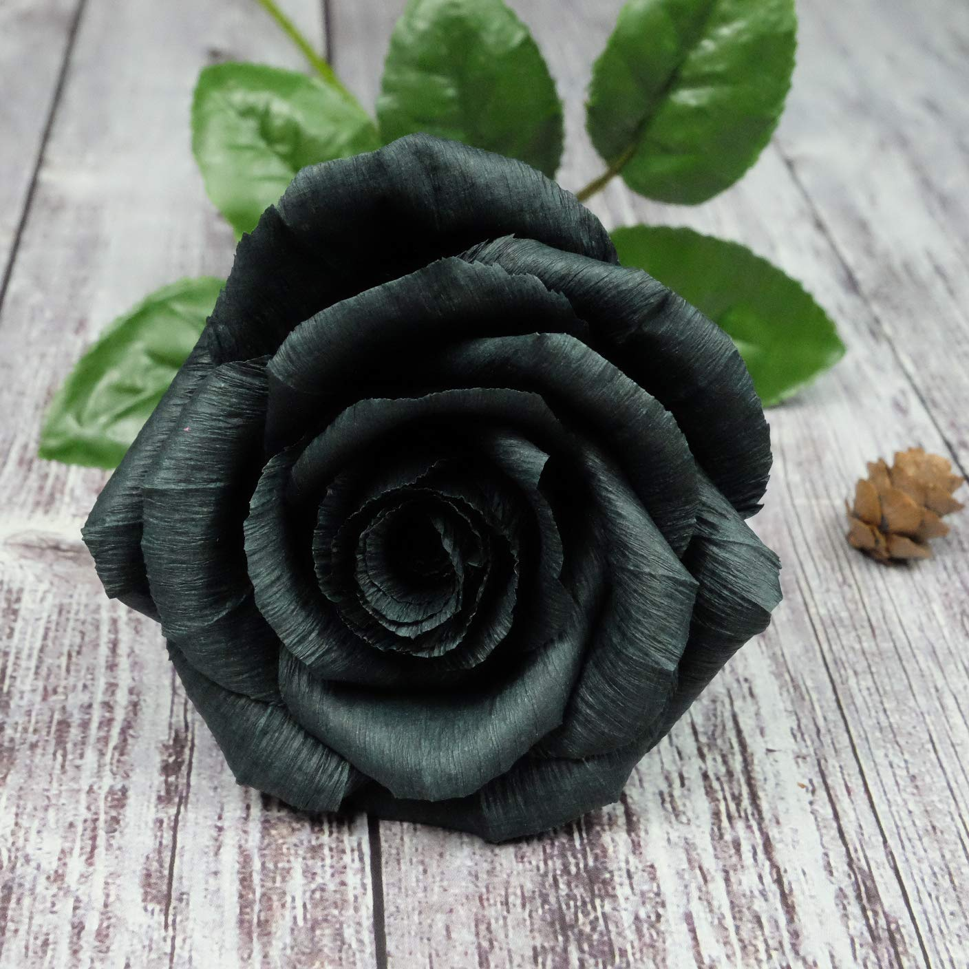 Amazon Com Black Paper Rose Perfect Anniversary Paper Gift Handmade