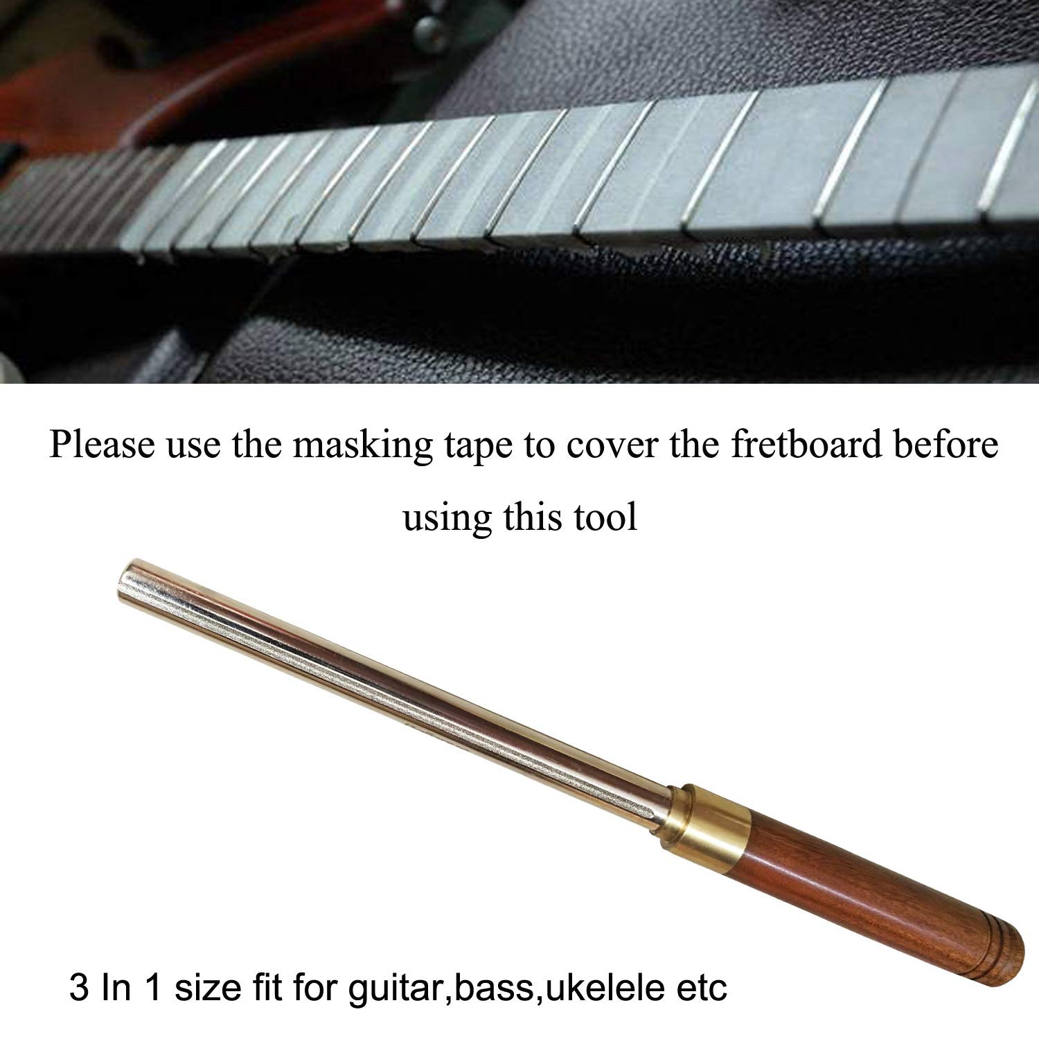 Hard-Working Fingerboard Protectors Polish Tools Cleaning Electric Stainless Steel Fret Rocker Luthier Repairing Acoustic Guitar File Set Musical Instruments