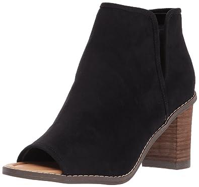 Dr. Scholl's Women's Postpone Ankle Bootie, Black Microfiber, ...