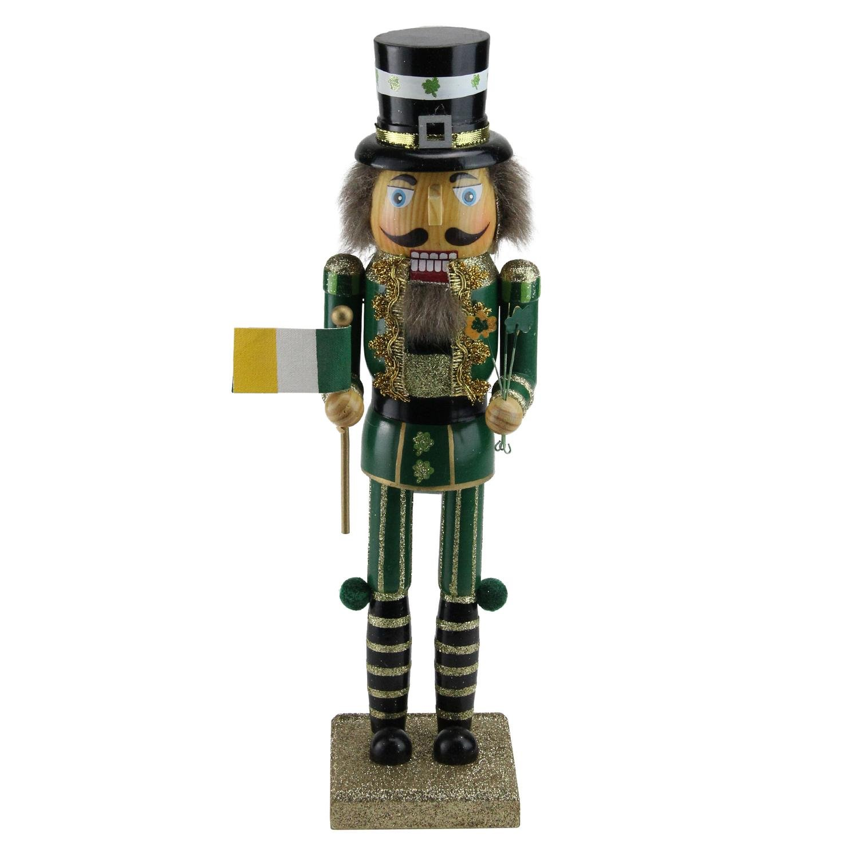 Kurt Adler Wooden Irish Nutcracker, 14-Inch