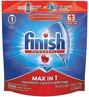 Amazon.com: Acabado – máximo en 1-82 ct – detergente para ...